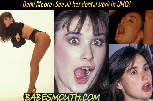 Demi Moore at the Dentist